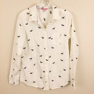 Joules Lucie Cream Scotty Dog Classic Fit Shirt 6